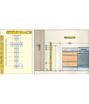 Уровень для электрика, 43 см STABILA 70 Electric 16135
