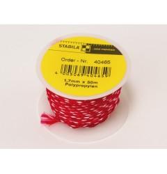 Шнур для каменщика красно-белый, 1,7мм х 50м STABILA 40465