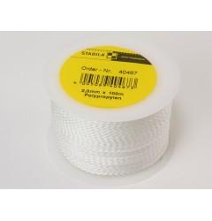 Шнур для каменщика белый, 2мм х 100м STABILA 40467